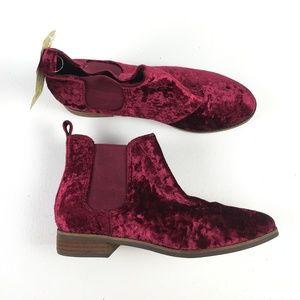 Toms Purple Velvet Ella Bootie X9515861